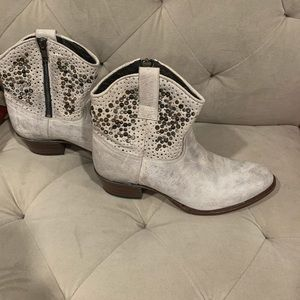 Frye ankle boots with studs